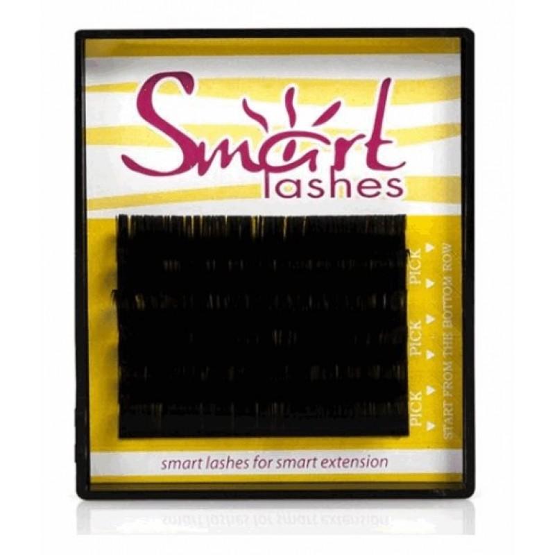 Ресницы для наращивания черные Smart lashes (6 линий) изгиб L