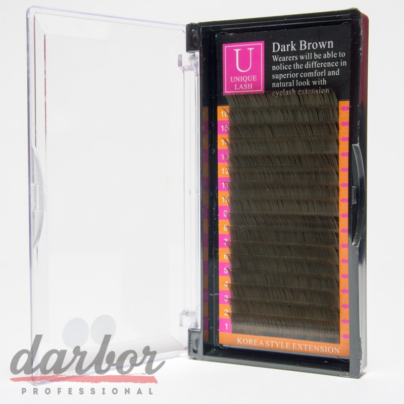 Ресницы для наращивания Unique Lash Dark Brown