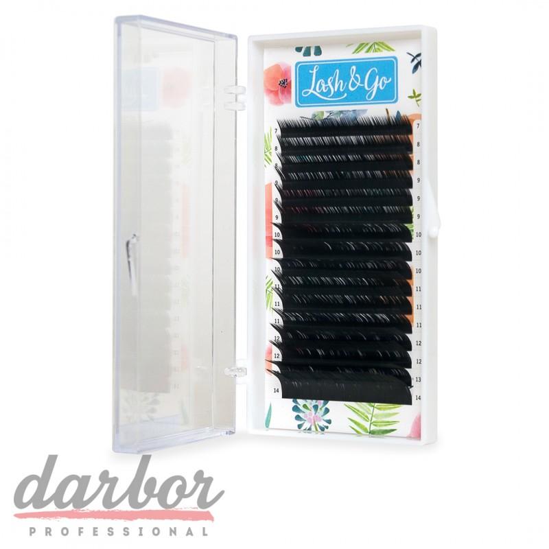 Ресницы для наращивания черные Lash&Go 16 линий