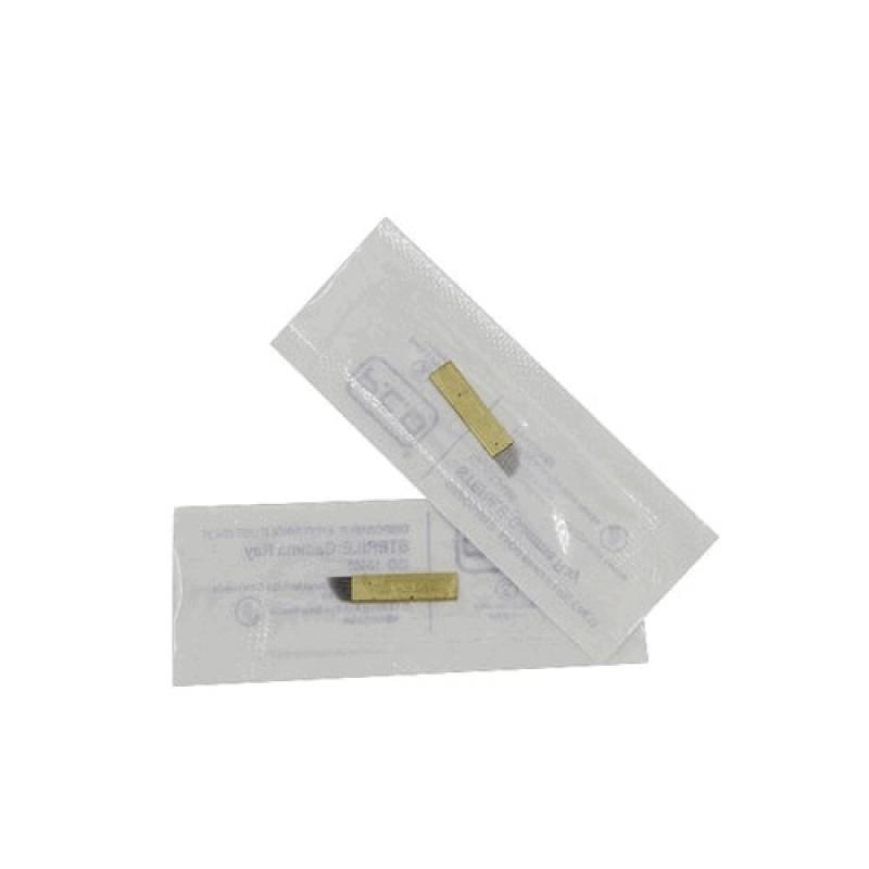 Иглы плоские для татуажа №14 золото (Корея)